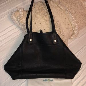 Stella & Dot Paris Market Tote Bag Black